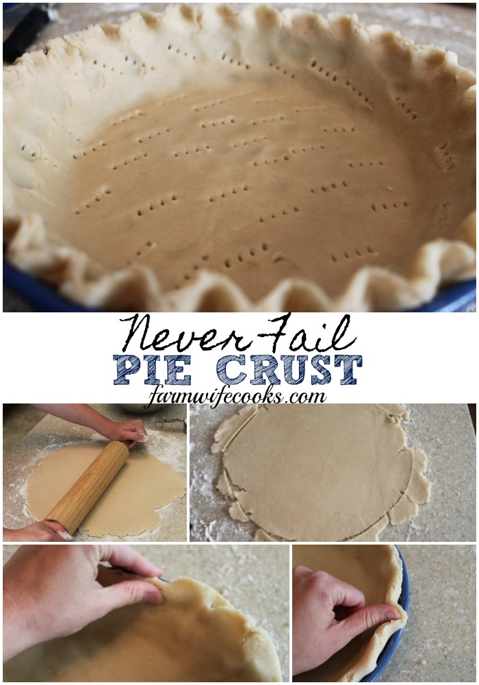 Are you looking for the perfect pie crust? This Never Fail Pie Crust is my go-to recipe!