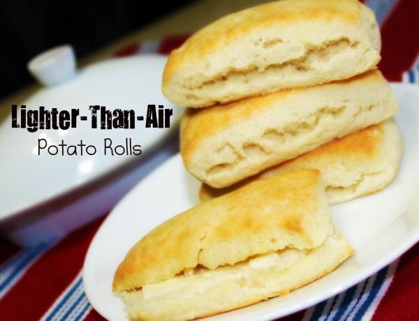 Lighter-Than-Air Potato Rolls