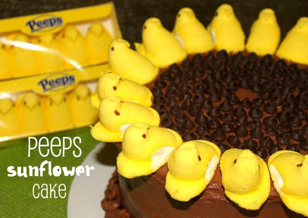 Peeps Sunflower Cake for Easter
