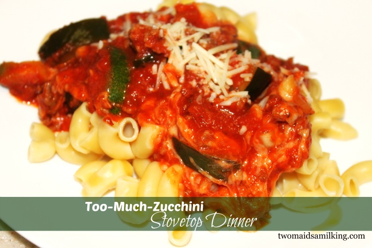 Too Much Zucchini Stovetop Dinner Recipe