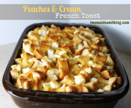 Peach Overnight French Toast Casserole