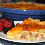 Ham, Potato and Cheddar Quiche