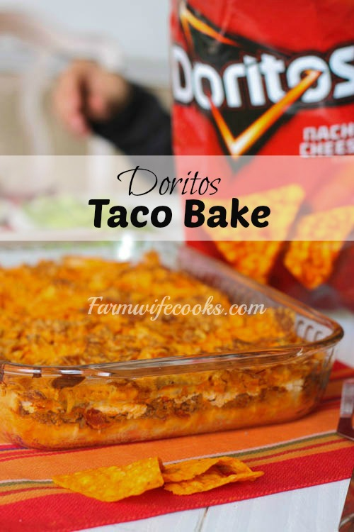 Doritos Taco Bake is a great family friendly recipe that is husband and kid approved!