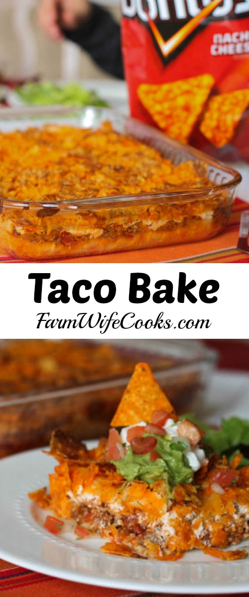 Taco Bake With Crescent Rolls And Doritos The Farmwife Cooks