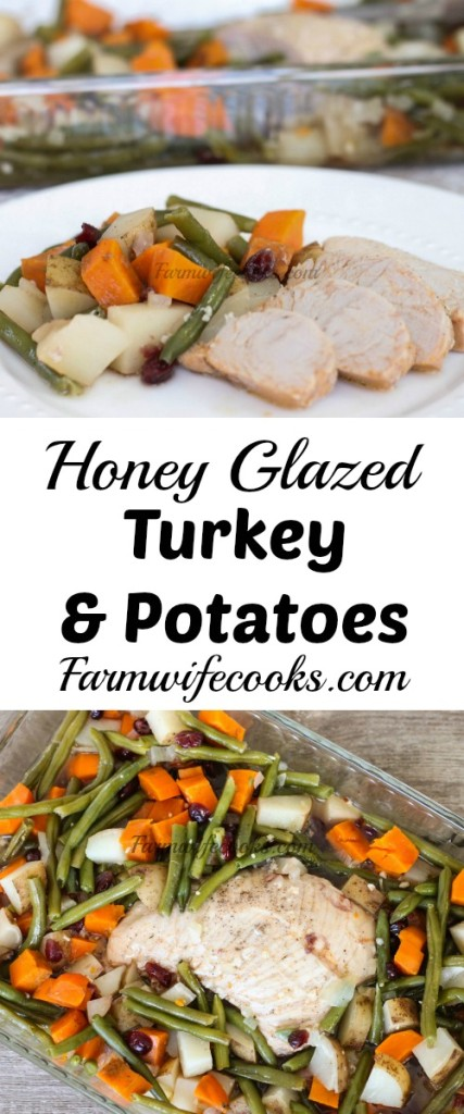 Are you looking for a hearty meal with all the flavors of fall? Look no further! This Glazed Turkey and Potatoes will have your house smelling awesome and everyone asking for seconds!