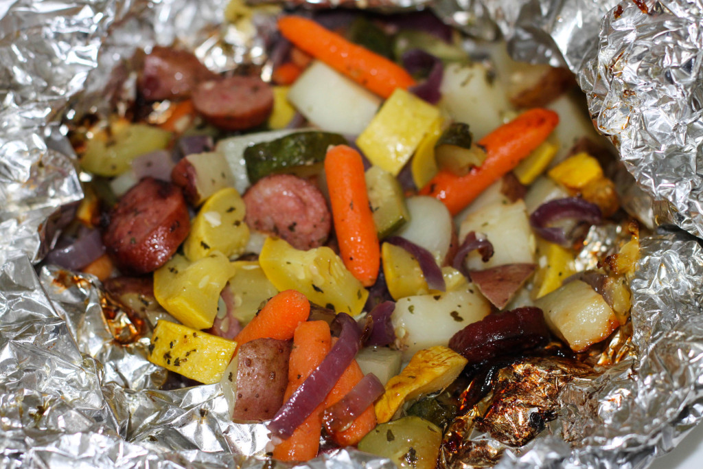 Grilled Sausage and Veggie Packs