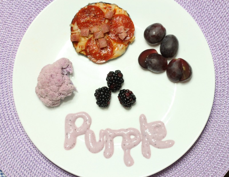 Eat, Drink, Play by color: Purple