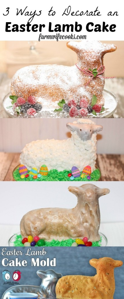 3 Ways to decorate an Easter Lamb Cake. Make the perfect cake on Easter with this how to guide. An idea for every skill level.