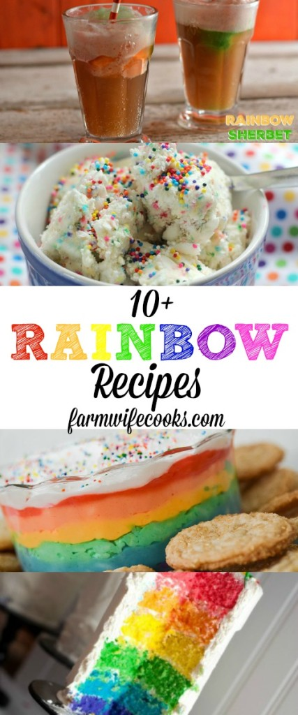 10+ Rainbow Recipes perfect for St Patrick's Day or a Rainbow Party!