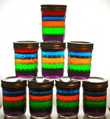 Rainbow Jello Jars