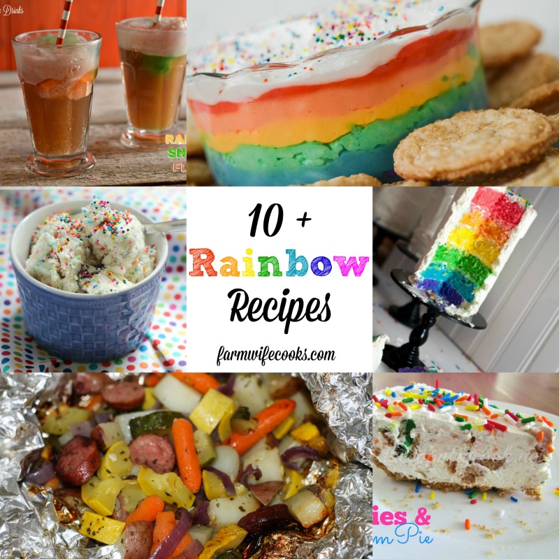10 + Rainbow Recipes perfect for St Patrick's Day or any Rainbow Party!