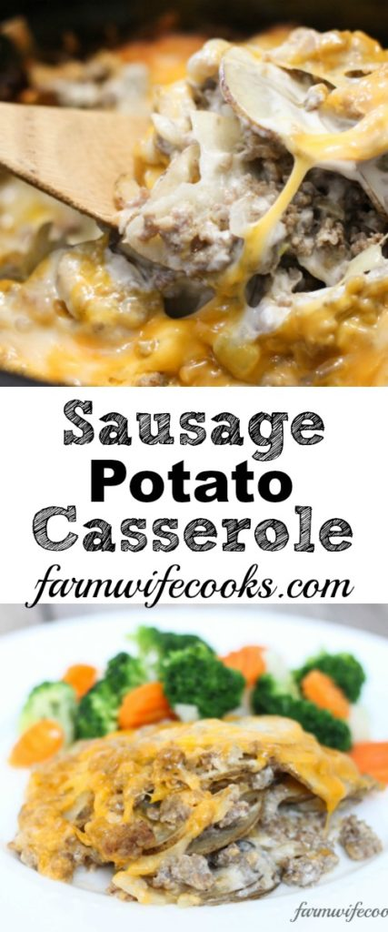 Sausage Potato Casserole is a family friendly meal recipe made in the Crockpot.
