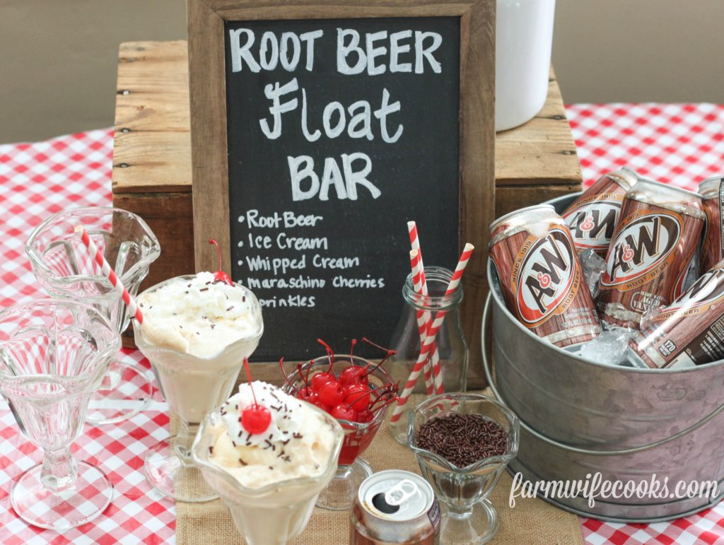 Root Beet Float Bar Ice Cream Party Idea. Perfect Summer Treat!