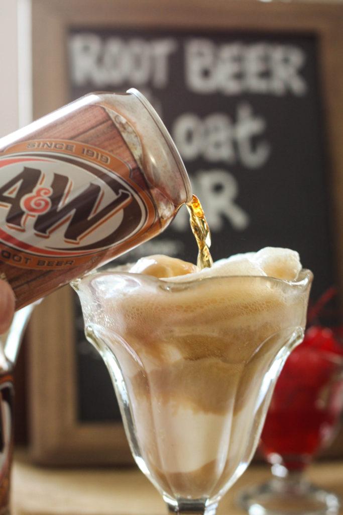 Root Beet Float Bar Ice Cream Party Idea. Perfect Summer Treat!