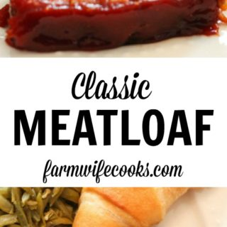 Are you looking for a tried and trueClassic Meatloaf recipe? This recipe is comfort food at it's finest!