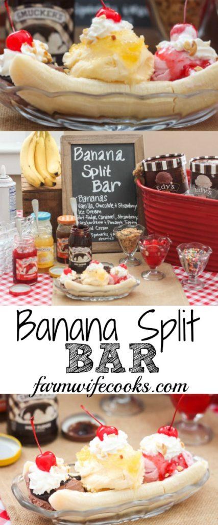 Banana Split Sheet Cake