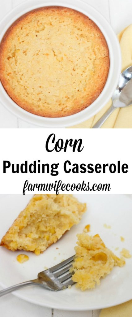 The best corn casserole recipe! Perfect side for family dinner great for Thanksgiving or Christmas. You and your family will love this Corn Pudding Casserole recipe.