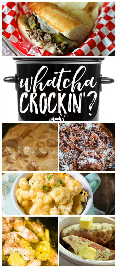 Crock Pot Recipes from Whatcha Crockin' Wednesday on RecipesThatCrock.com: This week includes Crock Pot Mississippi Chicken, Italian Beef Sandwiches, Crock Pot Ranch Pork Chops, Crock Pot Cauliflower and Cheese, Slow Cooker Swedish Meatballs AND Slow Cooker German Chocolate Spoon Cake