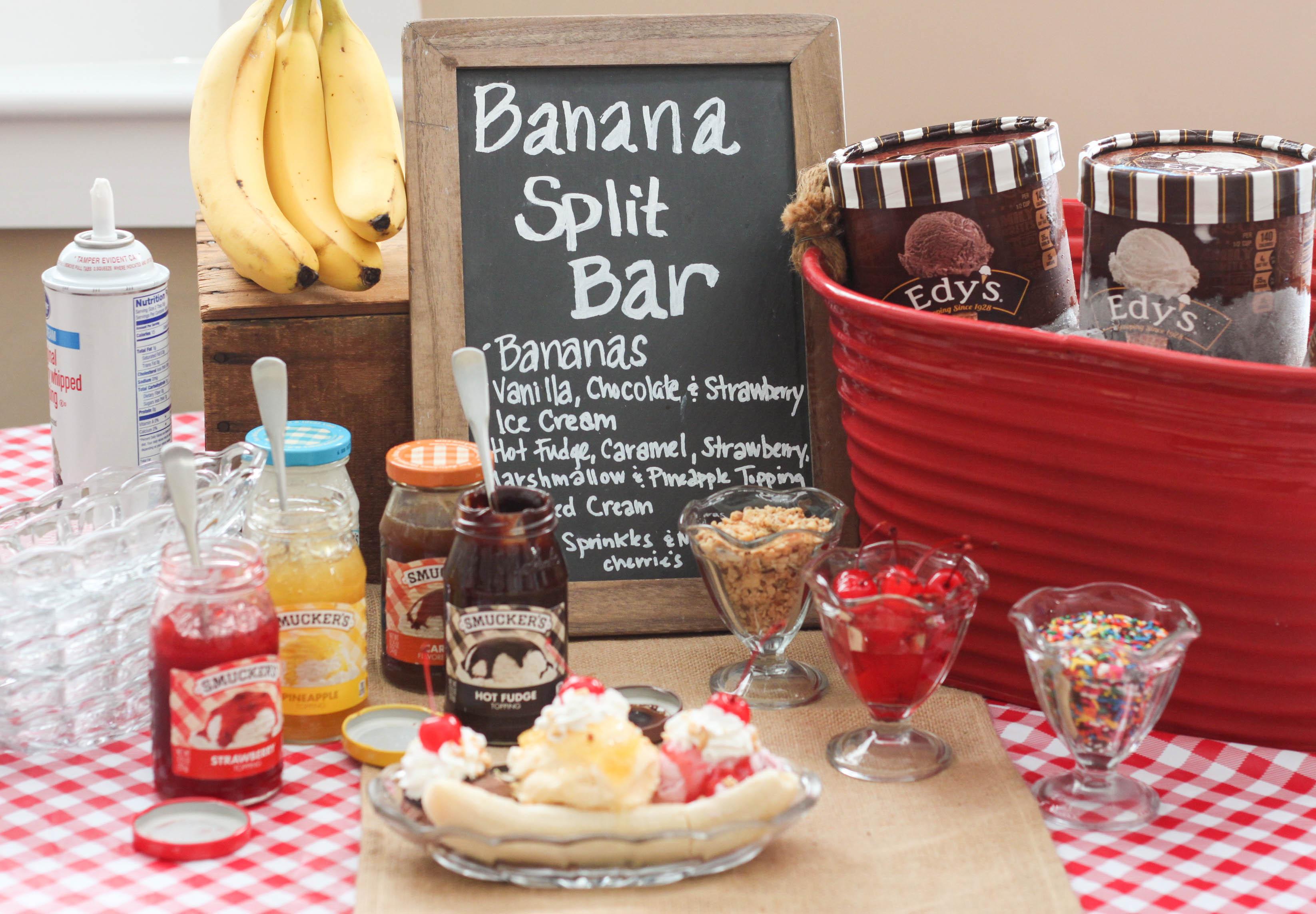 Banana Split Bar The Farmwife Cooks
