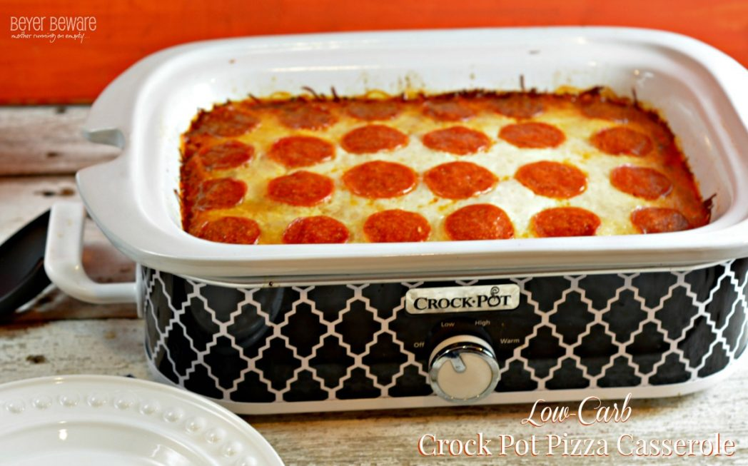 Low Carb Crock Pot Pizza Casserole