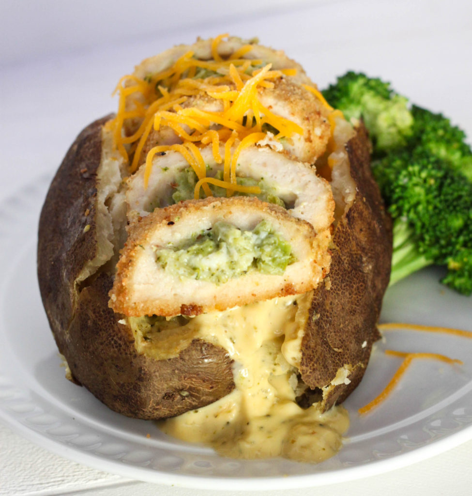 Chicken Broccoli Cheese Baked Potatoes With Barber Foods