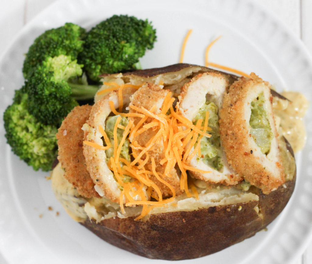 Chicken Broccoli Cheese Baked Potatoes