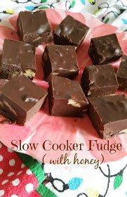 Slow Cooker Fudge with Honey
