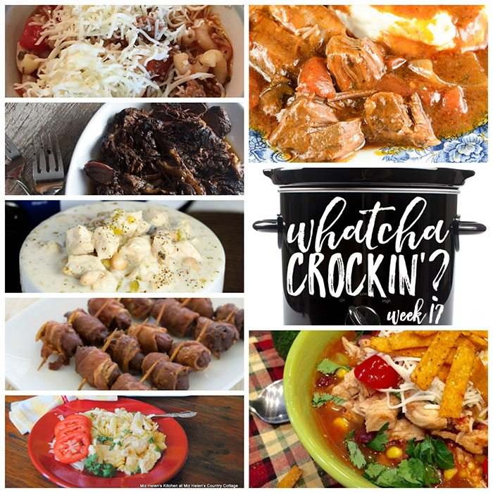 This week's Whatcha Crockin' crock pot recipes include Slow Cooked Balsamic Beef Roast, Crock Pot Bacon Wrapped Cocktail Weenies, Crock Pot Lasagna Soup, Crock Pot Chicken Enchilada Soup, Crock Pot Italian Pot Roast, Slow Cooker Buffalo Chicken Casserole, Crock Pot Chicken Chili and much more!