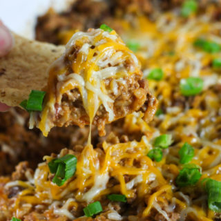 Crock Pot Beef Enchilada and Rice Dip