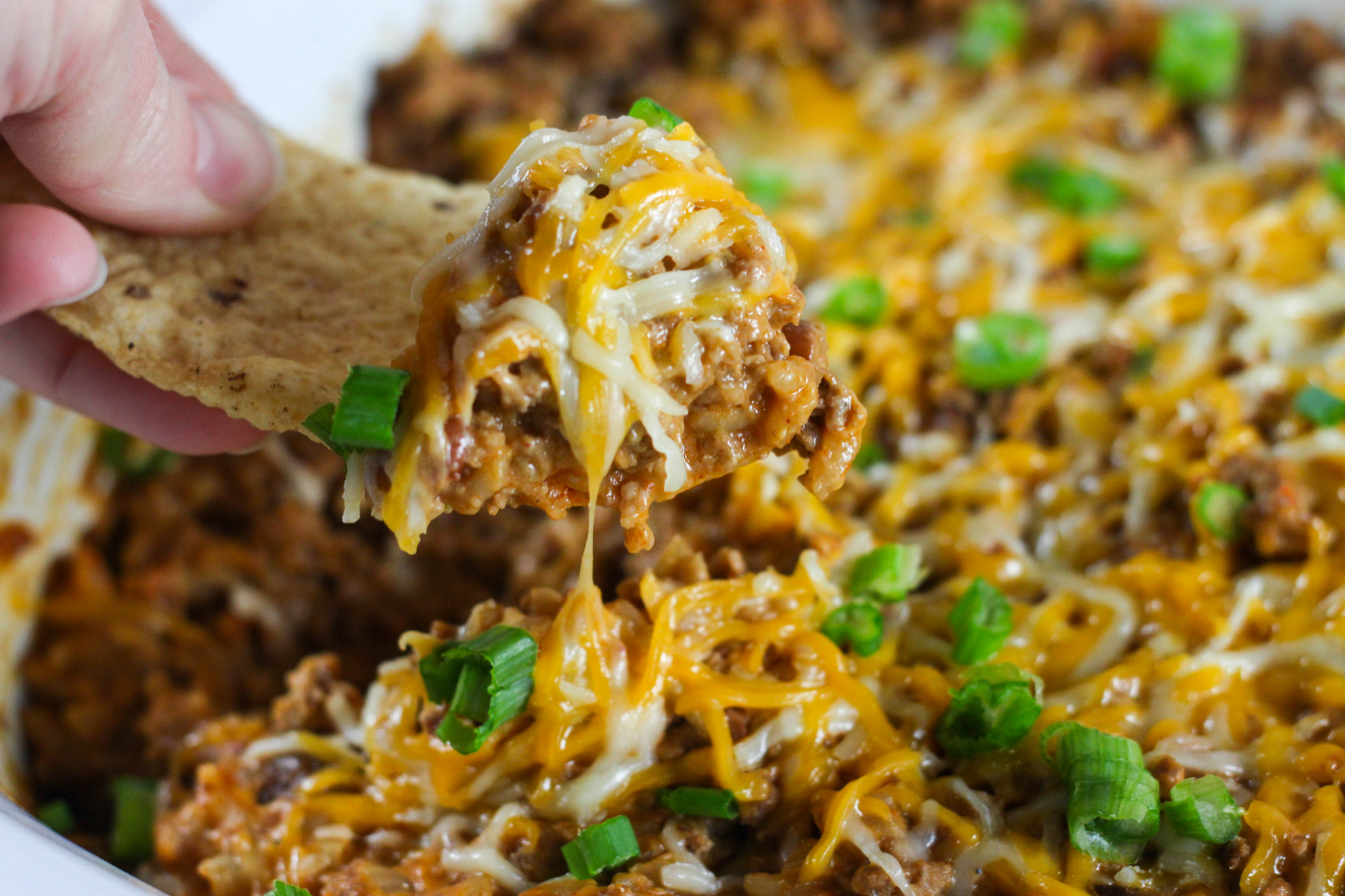 Crock Pot Beef Enchilada And Rice Dip The Farmwife Cooks