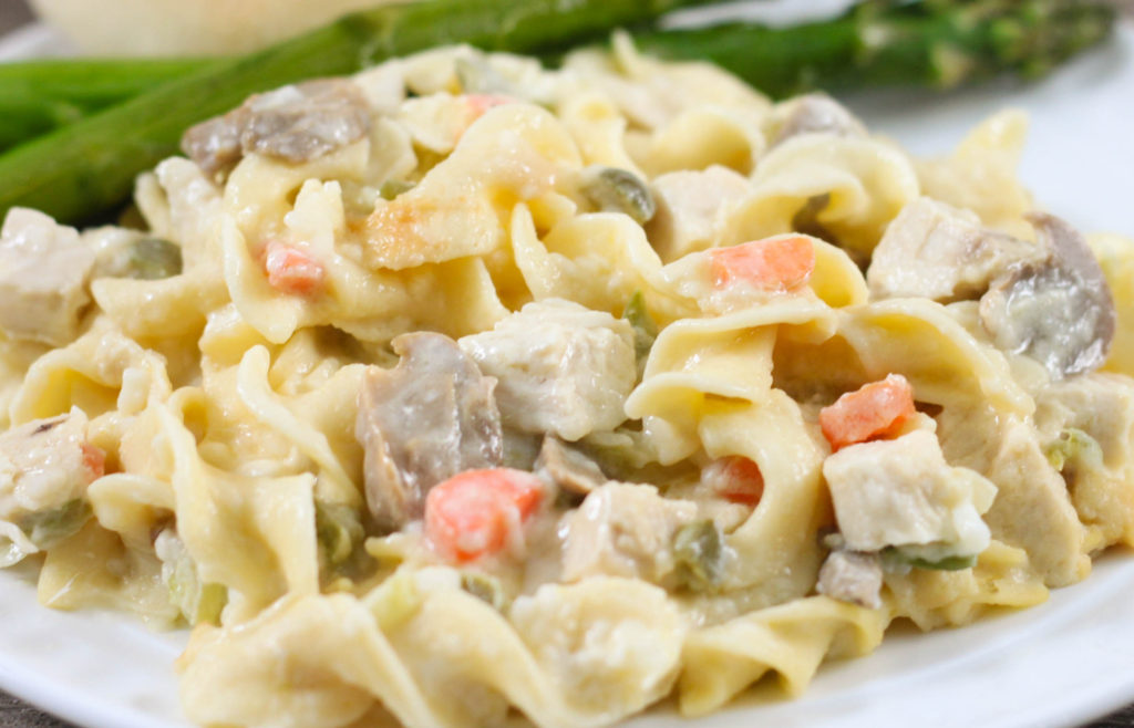 Crock Pot Cheesy Chicken and Noodles is an easy, cheesy twist on a classic recipe.