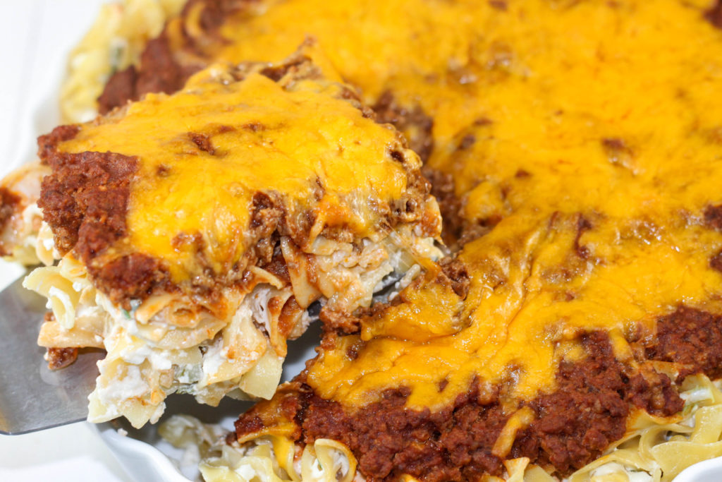 Sour Cream Noodle Bake is a great freezer friendly casserole recipe.