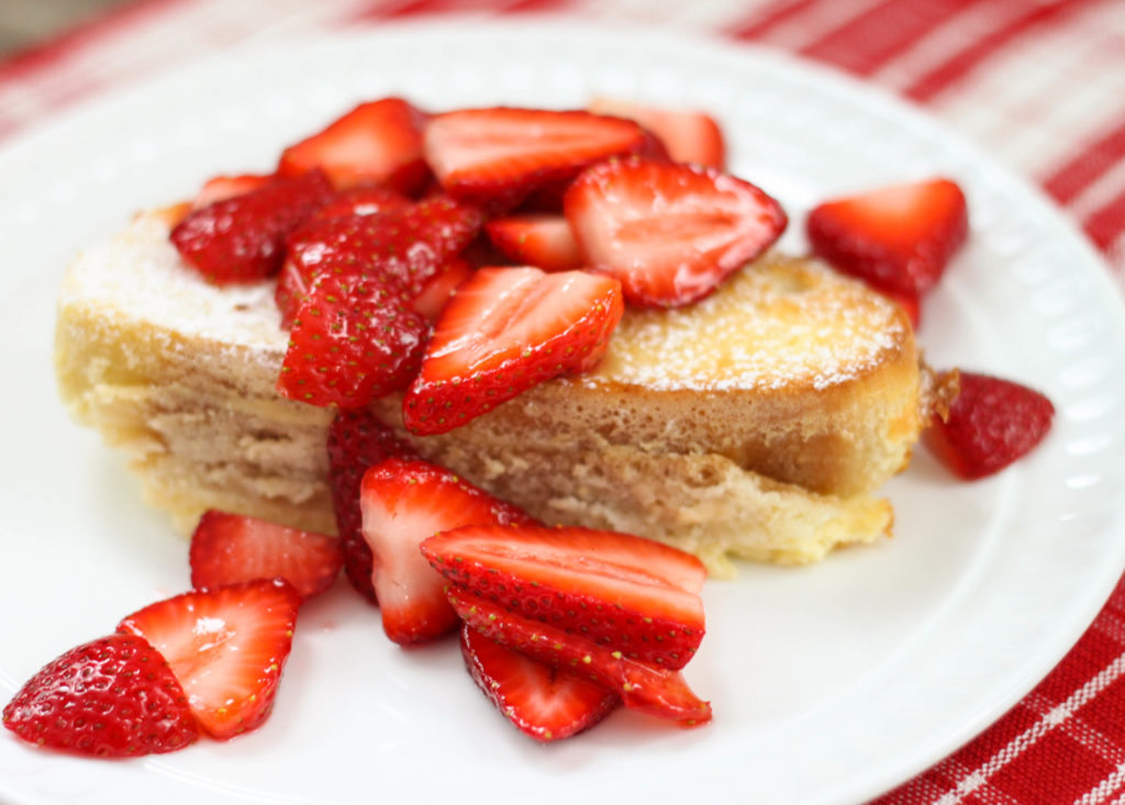 This Strawberry Cheesecake French Toast Casserole is the perfect breakfast or brunch recipe for a holiday or special occasion.