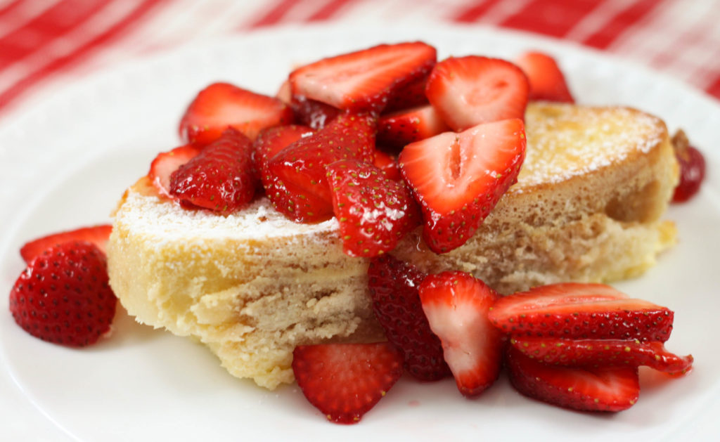 This Strawberry Cheesecake French Toast Casserole is the perfect breakfast or brunch recipe for a holiday or special occasion, like Mother's Day or Easter.