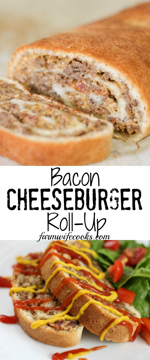Bacon Cheeseburger Roll-Up is the perfect twist on a classic burger ...