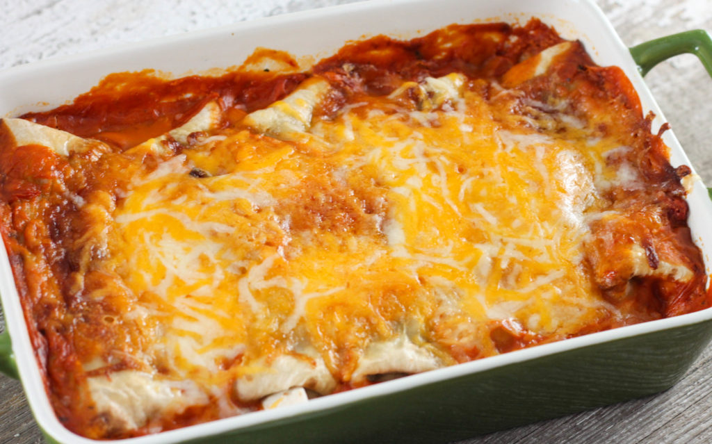An easy Burrito Style Beef Enchilada recipe that will have everyone you make them for asking for the recipe!