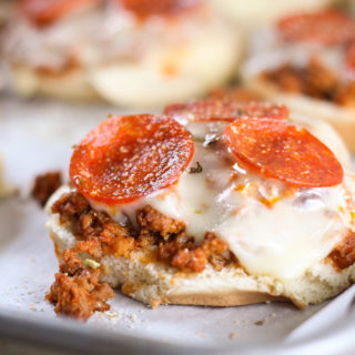 Pizza Burgers are a fun twist on Pizza Night that everyone will love! This recipe can be adapted with your families favorite pizza toppings.