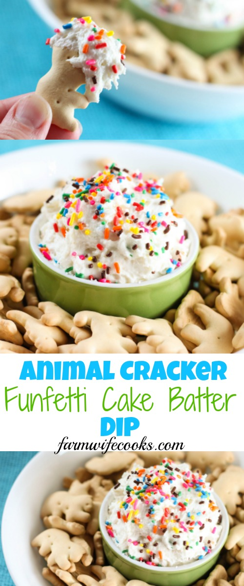 This Animal Er Funfetti Cake Batter Dip Would Make The Perfect Recipe For A Party Or