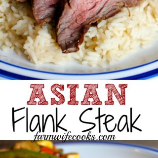 This grilled marinated Asian Flank Steak is the perfect steak recipe to cook on the grill.