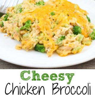 This Cheesy Chicken Broccoli Rice Casserole is an easy recipe the whole family will love!