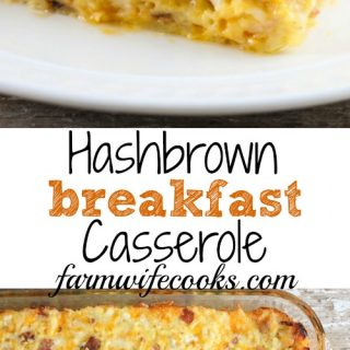 This Hashbrown Breakfast Casserole is an easy breakfast recipe that will have everyone asking for seconds and doesn't have to be made the night before.