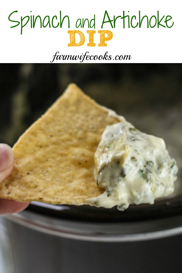 Are you looking for an easy Crock Pot Spinach and Artichoke Dip? Look no further! This recipe is cheesy, delicious and perfect for tailgating or parties.