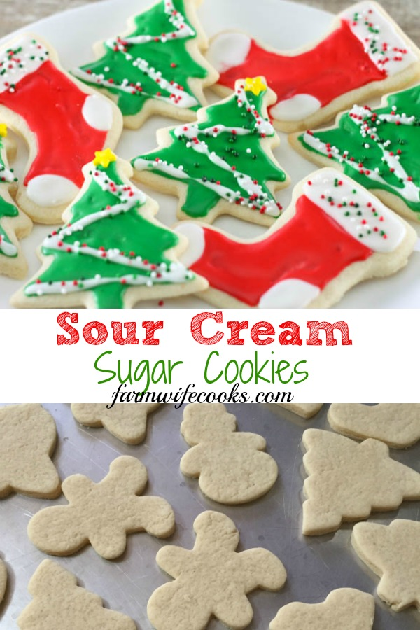 Sugar cookies are great for any Holiday but are a must for Christmas! These Sour Cream Sugar Cookies will have everyone coming back for seconds!