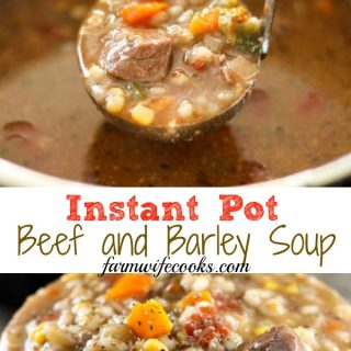 Are you looking for a new Instant Pot recipe? Gramma's Beef Barley Soup is a great pressure cooker recipe and can be made in the slow cooker too!