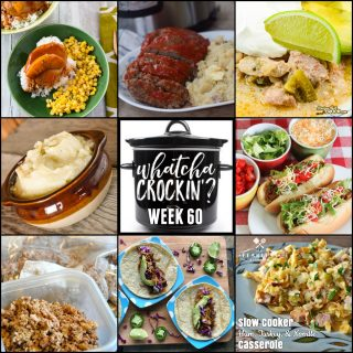 This week's Whatcha Crockin' crock pot recipes include Instant Pot Meatloaf and Mashed Potatoes, Slow Cooker Ham, Turkey and Noodle Casserole, Crock Pot Spiced Peach Pork Chops, Crock Pot Taco Joes, Instant Pot Low-Carb Mashed Cauliflower, Crock Pot Pork Chile Verde, Crock Pot Ground Beef and more!