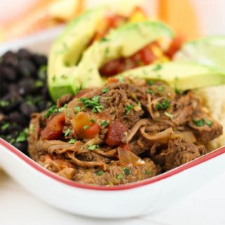Are you looking for a great slow cooker roast recipe? This Crock Pot Chipotle Shredded Beef is great for tacos, burrito bowls or just served with rice and beans.