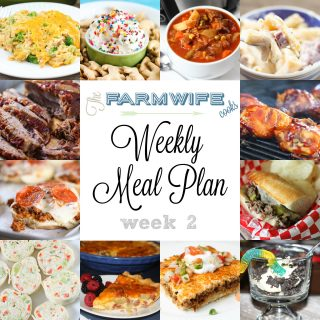 Welcome to this week's meal plan I have a great group of recipes for you this week including Ham and Cheese Pasta Bake, Deep Dish Taco Squares, Cheesy Chicken Broccoli Rice Casserole, Vegetable Beef Soup, Pizza Burgers, Grilled BBQ Chicken, Slow Cooker Beef Brisket, Ham, Potato Cheddar Cheese Quiche, Crock Pot Cinnamon Roll French Toast, Italian Beef Sandwiches, Crock Pot Dr. Pepper Pulled Pork, Animal Cracker Funfetti Cake Batter Dip, Veggie Tortilla Roll Ups, Gooey Butter Cake and Dirt Pudding!