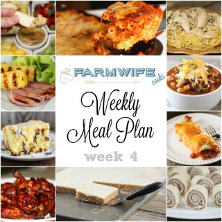 Welcome to this week's meal plan I have a great group of recipes for you this week including Sticky Chicken Wings, Burrito Style Beef Enchiladas, Baked Ziti, Chicken Tortilla Soup, Chicken Bacon Ranch Pizza Casserole, Grilled Pineapple and Ham Steaks, Angel Chicken, Coffee Cake, Biscuits and Gravy, Roast Beef Roll Ups, Meatball Sub Casserole, Peanut Butter Fruit Dip, Black Bean Caviar Salsa, White Texas Sheet Cake and Peanut Butter No Bake Cookies.