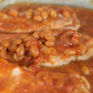 Pork Chops and Baked Beans