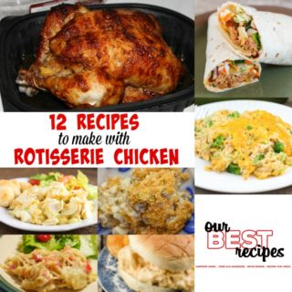 Are you looking for some new easy recipes to use up your leftover chicken? These 12 Recipes to Make with Rotisserie Chicken will help you save time and money by using rotisserie chicken in sandwiches, soups, dips and casseroles.